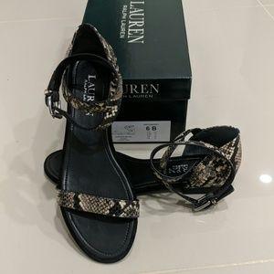Ralph Lauren Davison snakeskin sandals